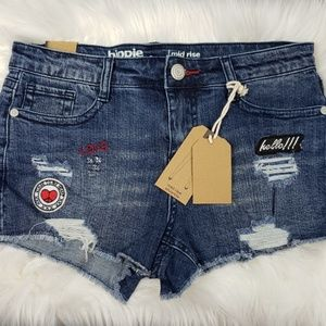 NWT Hippie Laundry Mid Rise Shortie Jean Shorts